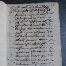 Manuscritos antiguos: MANUSCRITO AÑO 1563 BENIFAYÓ VALENCIA CARGAMENTO DE CENSAL 64 PÁGS. Lote 288550683