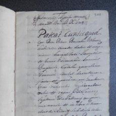 Manuscritos antiguos: MANUSCRITO AÑO 1665 VALENCIA VENTA DE DOS CASAS EN PLAZUELA PAVESOS? 28 PÁGS. Lote 288552088