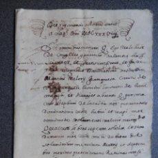 Manuscritos antiguos: MANUSCRITO AÑO 1639 VALENCIA APOCA DADA POR CONDE DE VILLAFRANQUESA Y SEÑOR DE BENIMELI Y NAVAJAS. Lote 288555178