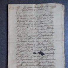 Manuscritos antiguos: MANUSCRITO AÑO 1658 DENIA ALICANTE EN VALENCIANO -ARRENDAMIENTO DERECHOS DOMINICALES DE BENIMELÍ. Lote 288556363