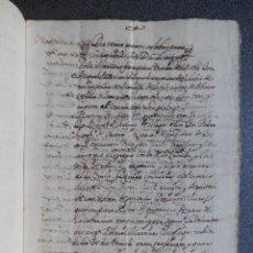 Manuscritos antiguos: MANUSCRITO AÑO 1654 MUCHAMIEL NOVELDA ALICANTE EN VALENCIANO VENTA CENSO 7 PÁGINAS. Lote 288561618