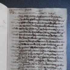 Manuscritos antiguos: MANUSCRITO AÑO 1589 VALENCIA PROVISIÓN DE CONDENA - EN VALENCIANO CORTE DE LA GOBERNANCIÓN. Lote 288562158
