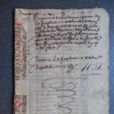 Manuscritos antiguos: MANUSCRITO AÑO 1611 BEXIX - BEJÍS CASTELLÓN REFUERZO EN PERGAMINO 7 PÁGINAS CENSAL. Lote 288564108
