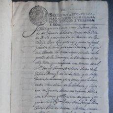 Manuscritos antiguos: MANUSCRITO AÑO 1732 BEXIX - BEJÍS CASTELLÓN FISCALES 4ºS CENSO AL CONDE DE VILLAFRANQUESA 9 PÁGS. Lote 288565313