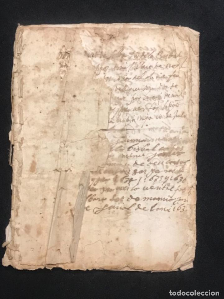 MANUSCRITO LEGAJO DE 1635 PAGOS DE UN PAYES DE LA BISBAL DEL PENEDÈS.TARRAGONA. (Coleccionismo - Documentos - Manuscritos)