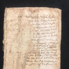 Manuscritos antiguos: MANUSCRITO LEGAJO DE 1635 PAGOS DE UN PAYES DE LA BISBAL DEL PENEDÈS.TARRAGONA.. Lote 288684713
