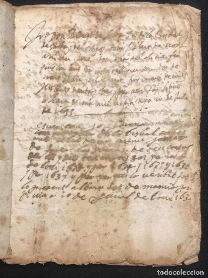Manuscritos antiguos: MANUSCRITO LEGAJO DE 1635 PAGOS DE UN PAYES DE LA BISBAL DEL PENEDÈS.TARRAGONA. - Foto 2 - 288684713