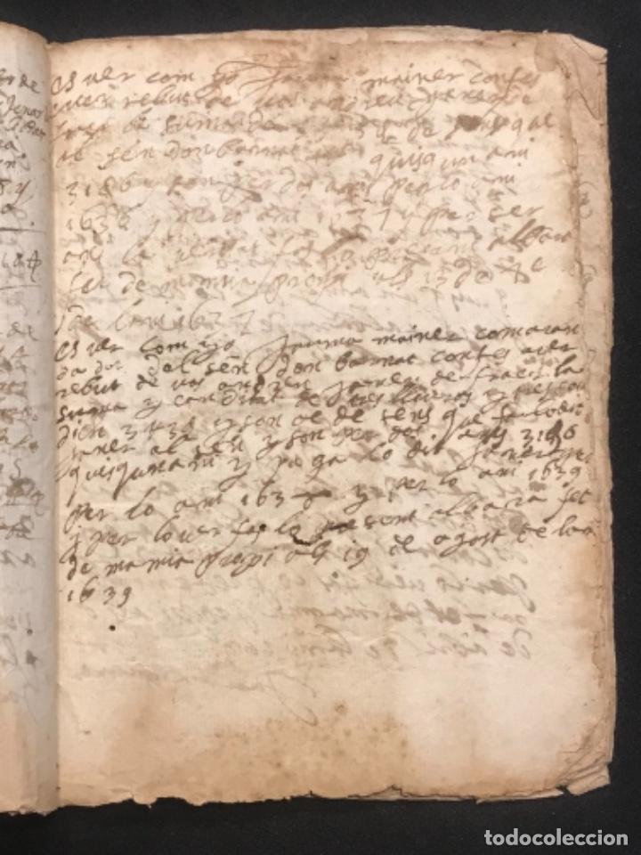 Manuscritos antiguos: MANUSCRITO LEGAJO DE 1635 PAGOS DE UN PAYES DE LA BISBAL DEL PENEDÈS.TARRAGONA. - Foto 4 - 288684713