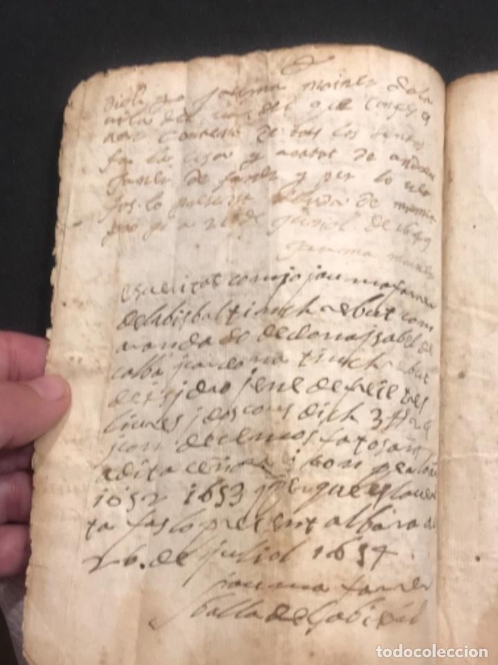 Manuscritos antiguos: MANUSCRITO LEGAJO DE 1635 PAGOS DE UN PAYES DE LA BISBAL DEL PENEDÈS.TARRAGONA. - Foto 5 - 288684713