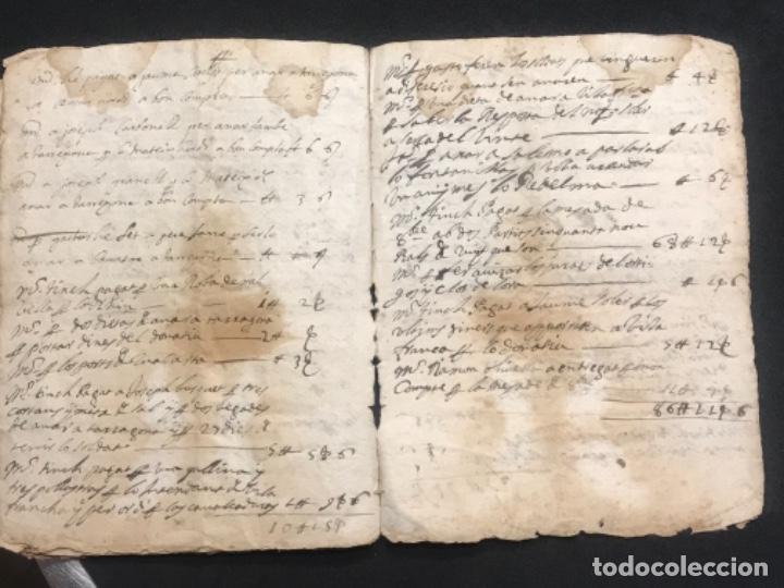 Manuscritos antiguos: MANUSCRITO LEGAJO DE 1635 PAGOS DE UN PAYES DE LA BISBAL DEL PENEDÈS.TARRAGONA. - Foto 11 - 288684713