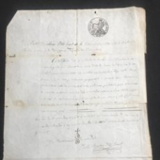Manuscritos antiguos: MANUSCRITO DE LA BISBAL DEL PENEDÈS 1844. SOLICITAN AUXILIOS ESPIRITUALES.. Lote 288689723