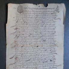 Manuscritos antiguos: MANUSCRITO AÑO 1643 GRANADA CON FISCAL 2º HABILITADO RARO Y LUJO PODER PARA COBROS. Lote 288696948
