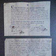 Manuscritos antiguos: DOS BONITOS MANUSCRITOS AÑO 1787-8 CUENCA IGLESIA CATEDRAL PAGOS CONVENTO CARMELITAS DESCALZOS. Lote 288699488