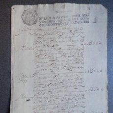 Manuscritos antiguos: MANUSCRITO AÑO 1697 FISCAL 4º BONITO CON N INVERTIDA. RELACIÓN PAGOS POR IMPUESTOS. Lote 288702043
