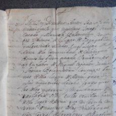 Manuscritos antiguos: MANUSCRITO AÑO 1710 ATECA CALATAYUD VENTA DE CASA, PARIDERA...Y OTRA ESCRITURA DE 1842. Lote 288705048