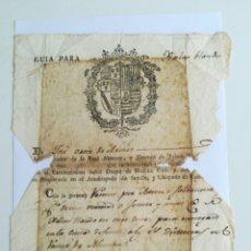 Manuscritos antiguos: GUÍA PARA XABON(JABÓN) BLANCO. UTRERA 11/7/1808.. Lote 288878448