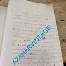 Manuscritos antiguos: SEVILLA, 1802, ORDEN INGRESO EN PRISION A COMPLICE ROBO DE UN CABALLO EN LA ALGABA, 1 PAGINA. Lote 288899223