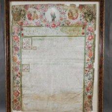 Manuscritos antiguos: DOCUMENTO MANUSCRITO EN LATÍN PINTADO SOBRE VITELA PAULUS PP V, CLEMENS PAPA VIII - SIGLO XVI-XVII. Lote 289590538