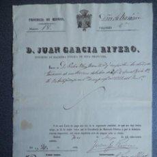 Manuscritos antiguos: MANUSCRITO AÑO 1860 RIBATEJADA MADRID TASACIÓN CARTA PAGO. Lote 289595898