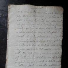 Manuscritos antiguos: MANUSCRITO AÑO 1706 LOS ARCOS Y VILLAFRANCA NAVARRA CONTRATO MATRIMONIAL 1628 COMPULSADO 30 PÁGS. Lote 289596373