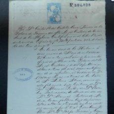 Manuscritos antiguos: ESCLAVITUD CUBA MANUSCRITO AÑO 1872 ENTIERRO DE ESPAÑOLES FISCAL 8º. Lote 289597643