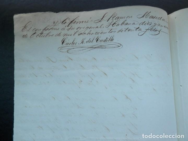 Manuscritos antiguos: ESCLAVITUD CUBA MANUSCRITO AÑO 1872 ENTIERRO DE ESPAÑOLES FISCAL 8º - Foto 2 - 289597643