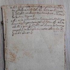 Manuscritos antiguos: ANTIGUO TEXTO MANUSCRITO RELIGIOSO CATALAN SIGLO XVIII.. Lote 289669888