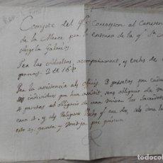 Manuscritos antiguos: ANTIGUO RECIBO MANUSCRITO.CONVENTO DE LA MERCÉ.BARCELONA? SIGLO XVIII. MARIA ANGELA GALANAS. Lote 289671293