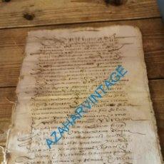Manuscritos antiguos: 1590, ESCRITURA DE PERTENENCIA DE PARTE DE HEREDAD, CLERIGO DE SEPULVEDA, 6 PAGINAS. Lote 289815693