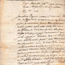 Manuscritos antiguos: TAMARITE DE LITERA (HUESCA) FALSEDAD EN MATRIMONIO OLZINELLES Y CASTELLO DOCUMENTO MANUSCRITO. Lote 289858088