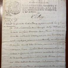 Manuscritos antiguos: FIRMA REAL . CARLOS III. 1784.. Lote 289872638