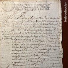 Manuscritos antiguos: FIRMA REAL. FELIPE V. 1715. MARQUÉS GRIMALDO. Lote 289873148