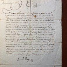 Manuscritos antiguos: FIRMA REAL. FERNANDO VII. 1821. NOMBRAMIENTO PLAZA JACA. Lote 289873663