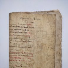 Manoscritti antichi: DOCUMENTO MANUCRITO TAPAS PERGAMINO SE. XVI ZONA BURGOS PALACIOS SIERRA TERRAZAS SALAS INFANTES. Lote 290029633