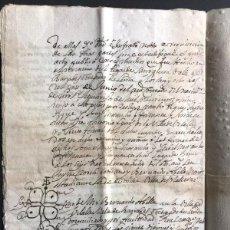 Manuscritos antiguos: MANUSCRITO 1705 / CAPITULOS MATRIMONIALES / ALTA RIBAGORZA LLEIDA ( GOTARTA - BOREN ) VILALLER. Lote 290072763
