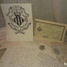 Manuscritos antiguos: CORRESPONDENCIA MANUSCRITA ORIGINAL DEL PINTOR FERNANDO HURTADO SANCHIS - EXCEPCIONAL.. Lote 290085768