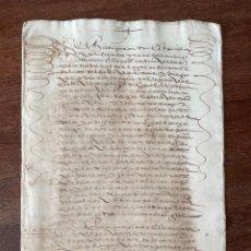 Manuscritos antiguos: AÑO 1601. ALCALÁ DE HENARES. MADRID. ESCRITURA DE VENTA REAL DE CASAS DE CALLEJUELA DE SANTA LUCÍA.. Lote 292134148