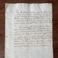 Manuscritos antiguos: AÑO 1805. SECRETARÍA SEÑORIO DE VIZCAYA. PLAN DEL CLERO OBISPADOS CALAHORRA, SANTANDER. COMISIONADO. Lote 292134633