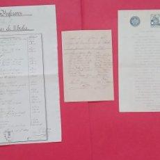 Manuscritos antiguos: ESCUELAS PIAS.-CUADRO DE PROFESORES.-ENSEÑANZA.-FRANCISCO PEDRO MORENO.-UBEDA.-AÑO 1911-1920.. Lote 292222528