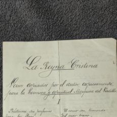 Manuscritos antiguos: POEMA MANUSCRITO 1903 ANTONIO FERNÁNDEZ GRILO POETA Y MIEMBRO DE LA REAL ACADEMIA. Lote 293237658