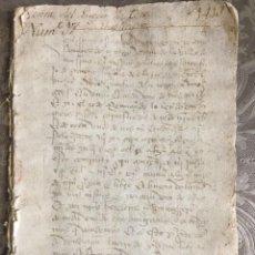Manuscritos antiguos: 1413 - CASA DE LARA Y MOLINA, SEÑORES DE TEROS. VENTA DEL LUGAR DE TEROS. Lote 293317843
