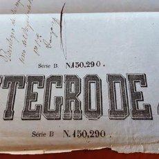 Manuscritos antiguos: PAPEL REINTEGRO 4 RV - MEDIADOS SIGLO XIX - MARCA DE AGUA BIEN VISIBLE. Lote 293424858
