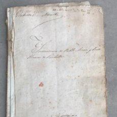 Manuscritos antiguos: MANUSCRITO LEGAJO INVENTARIO PUEBLO DE VILABELLA TARRAGONA 1839 Y 1867.. Lote 293451773