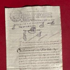 Manuscritos antigos: 1813 - DOCUMENTO DONDE SE RECLAMA UNA DOTE - VILAFRANCA DEL PENEDES. Lote 293792693