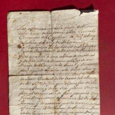 Manuscritos antiguos: 1803 - AFRONTACIONS DE LA GLEVA DE LA TERRA DE LA CASA DE TORRAS EN FOIX - CATALUÑA. Lote 293794958