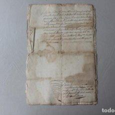 Manuscritos antiguos: VALLS, VENTA DE CASA EN CALLE GAVARRO, SELLO SEGUNDO 1748. Lote 294036818
