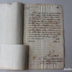 Manuscritos antiguos: GAVÀ, VENTA DE TERRENO, EN CATALÁN, SELLO CUARTO 1799. Lote 294037233