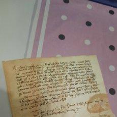 Manuscritos antiguos: CARTA PERGAMINO MANUSCRITO ¿LATÍN?CATALÁN?. Lote 294086713