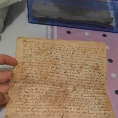Manuscritos antiguos: CARTA MANUSCRITO ANTIGUO ¿LATÍN?CATALÁN?. Lote 294087603
