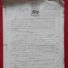 Manuscritos antiguos: SAN VICENTE CURTIS, ARMENTAL MANUSCRITO AÑO 1869 FISCALES HABILITADOS CUENTAS CURA PÁRROCO 16 PÁGS. Lote 294559218